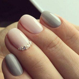 короткие ногти пастель