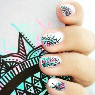короткие ногти рисунок