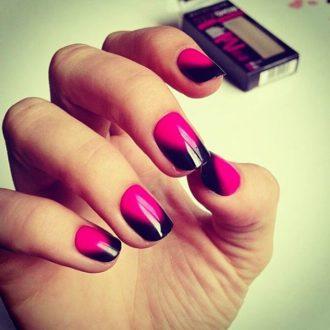 френч розово-чёрный