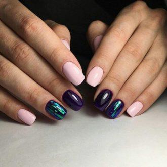 ногти разноцветные
