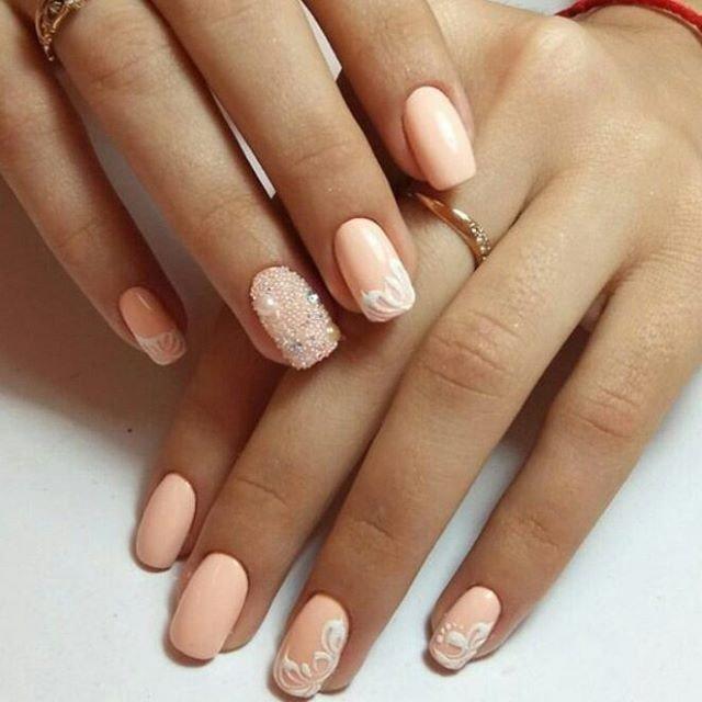 Кремовый дизайн ногтей картинки