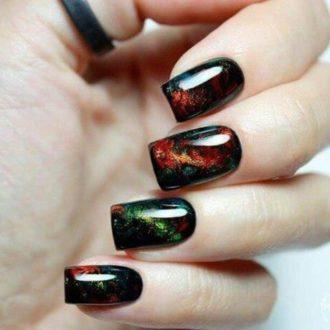 ногти блестящие