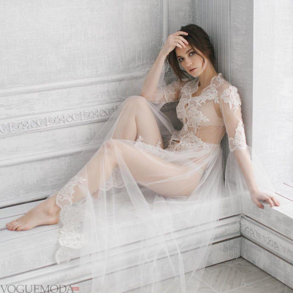 свадебное прозрачное платье