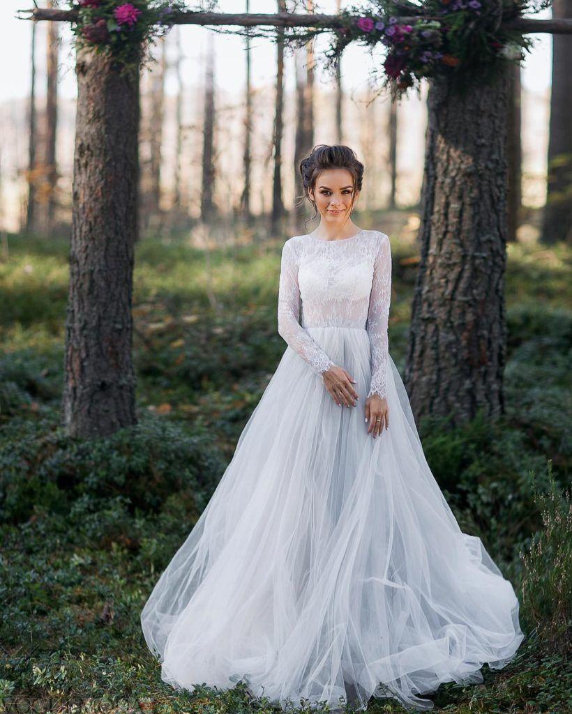 свадебное платье длинный рукав