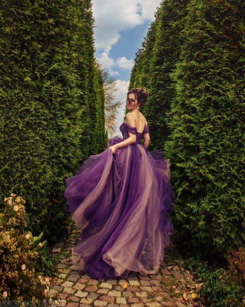 свадебное платье фиолетовое