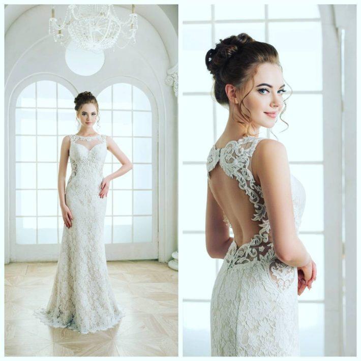 свадебное платье открытая спина