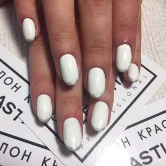 белый френч с серебром