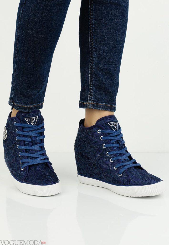 кроссовки синее