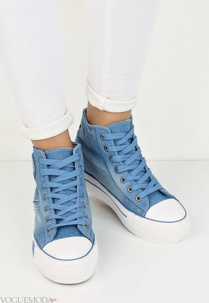 кроссовки джинсовые