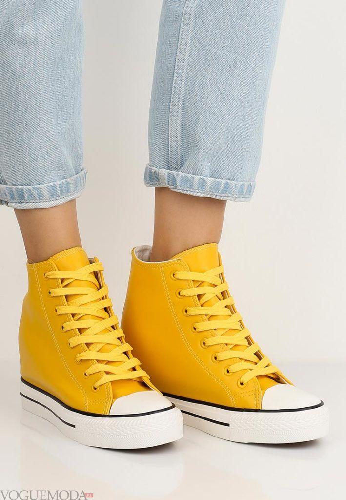 кроссовки жёлтые
