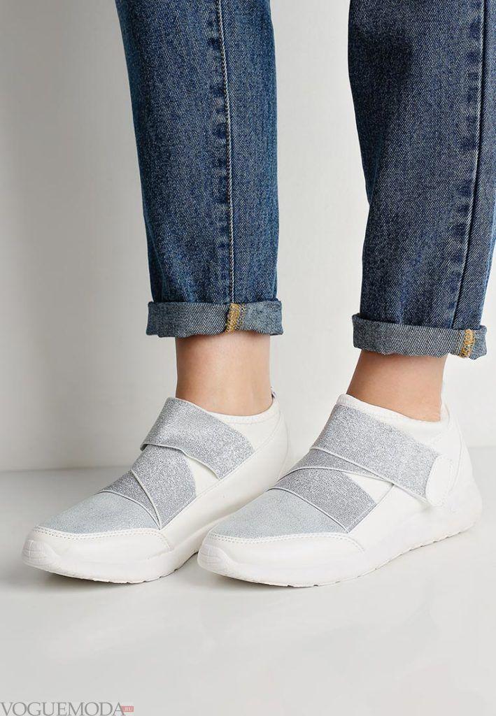 кроссовки с переплетом