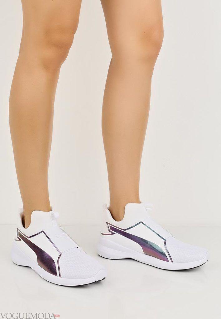 кроссовки со вставкой
