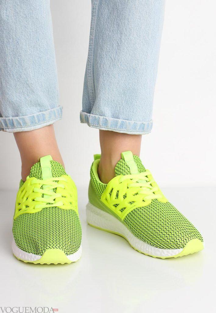 кроссовки салатовые