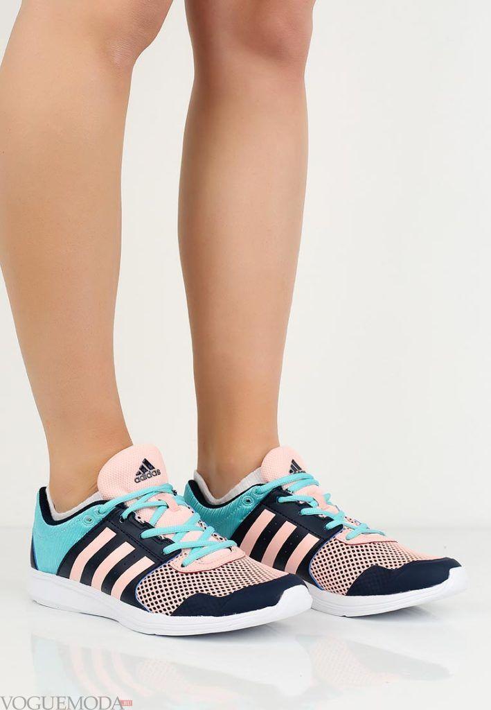 розово-голубые кроссовки
