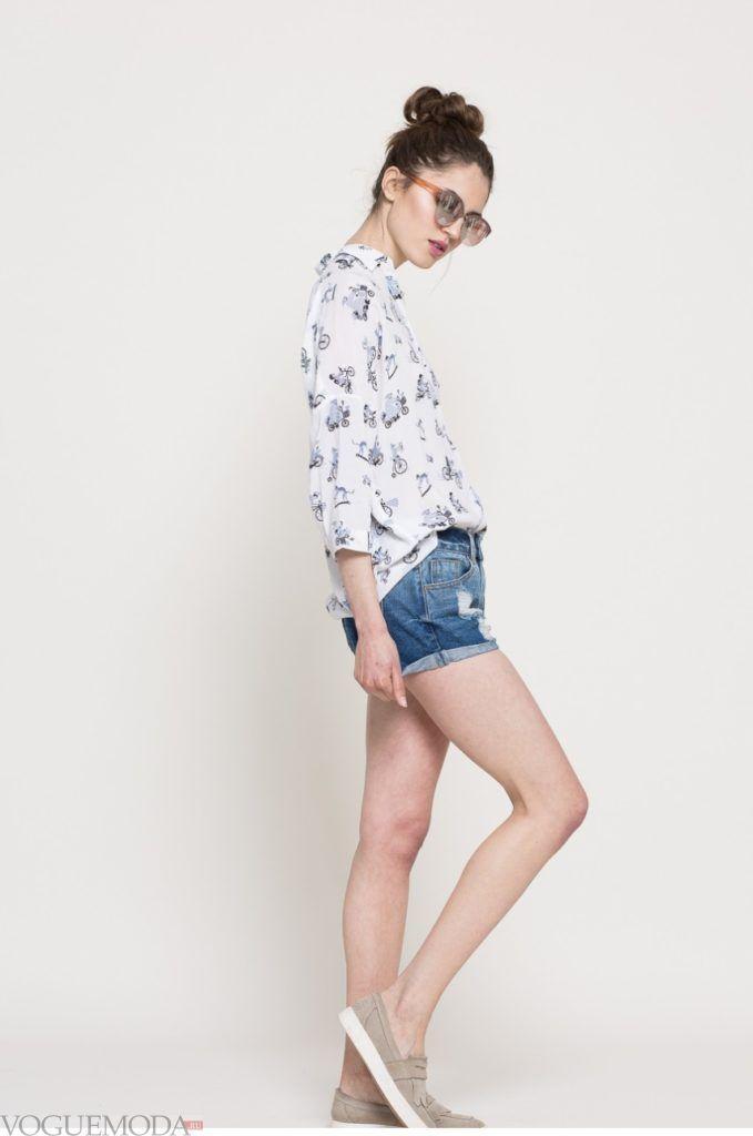 модная женская рубашка с велосипедами