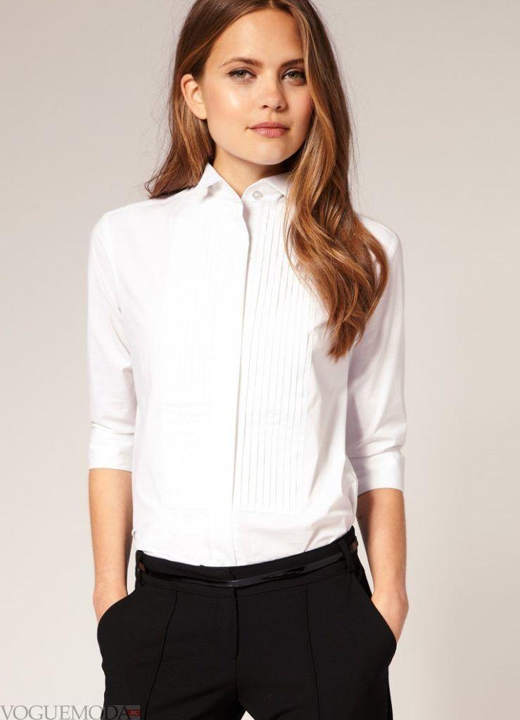 модная женская рубашка 2017 2018 светлая
