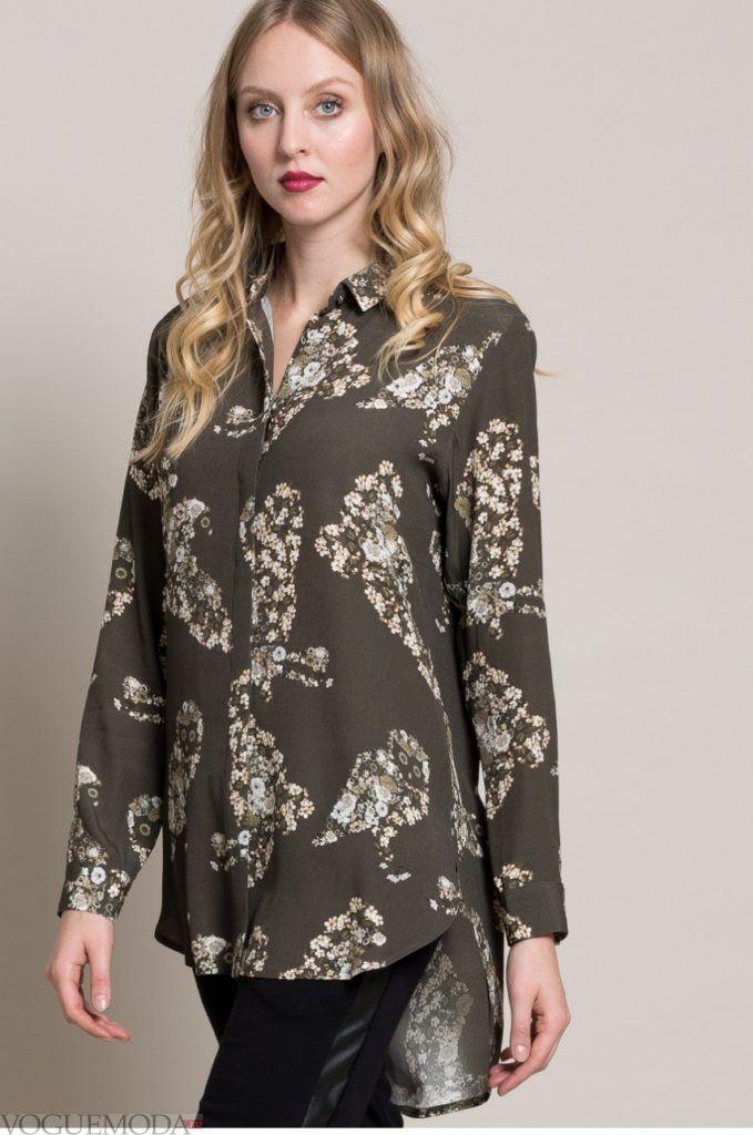 женская рубашка: с принтом