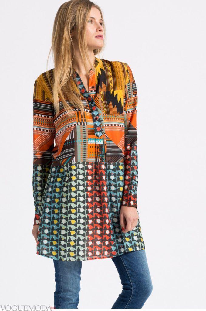 модная женская рубашка цветная