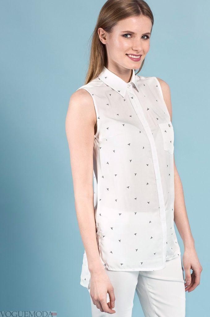 модная белая женская рубашка