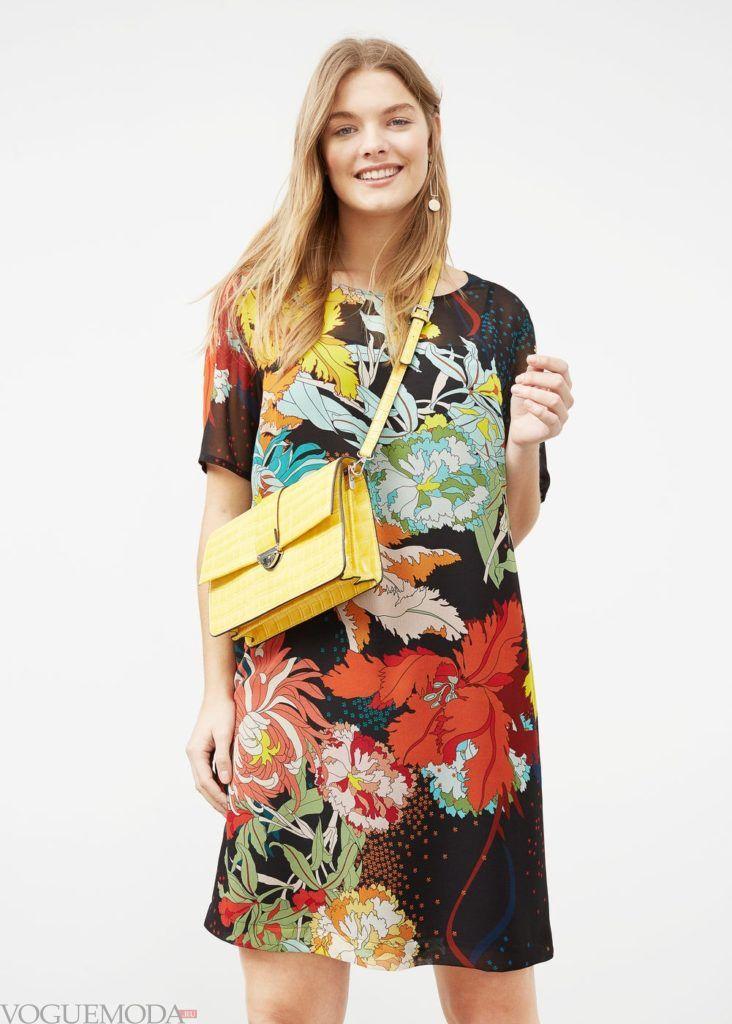 каждодневное платье с принтом 2018