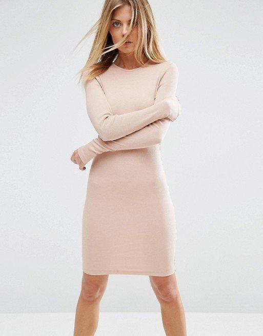 каждодневное кремовое платье