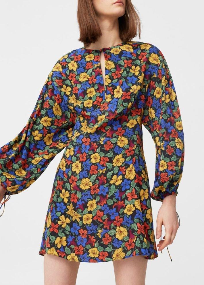 Платья на каждый день 2019 2020: в цветок