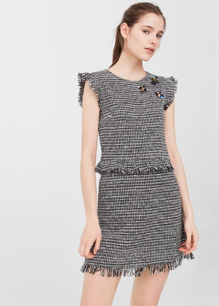 модные платья на каждый день: в мелкую клеточку