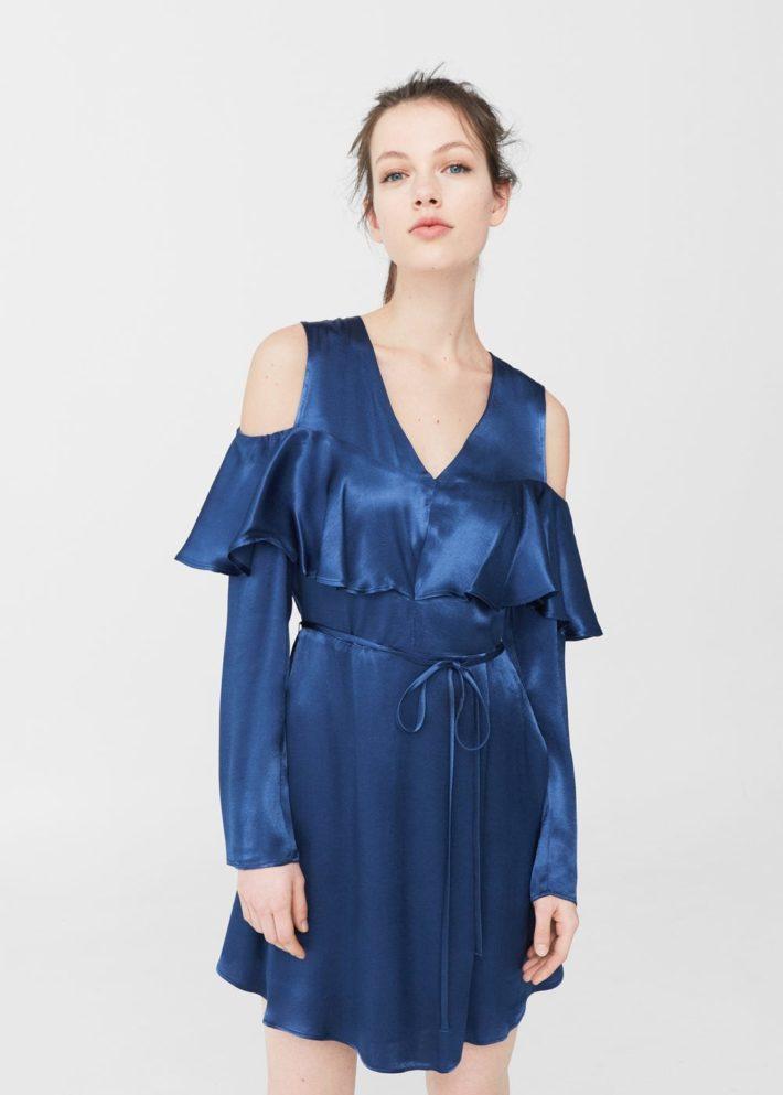 модные платья на каждый день: атласное