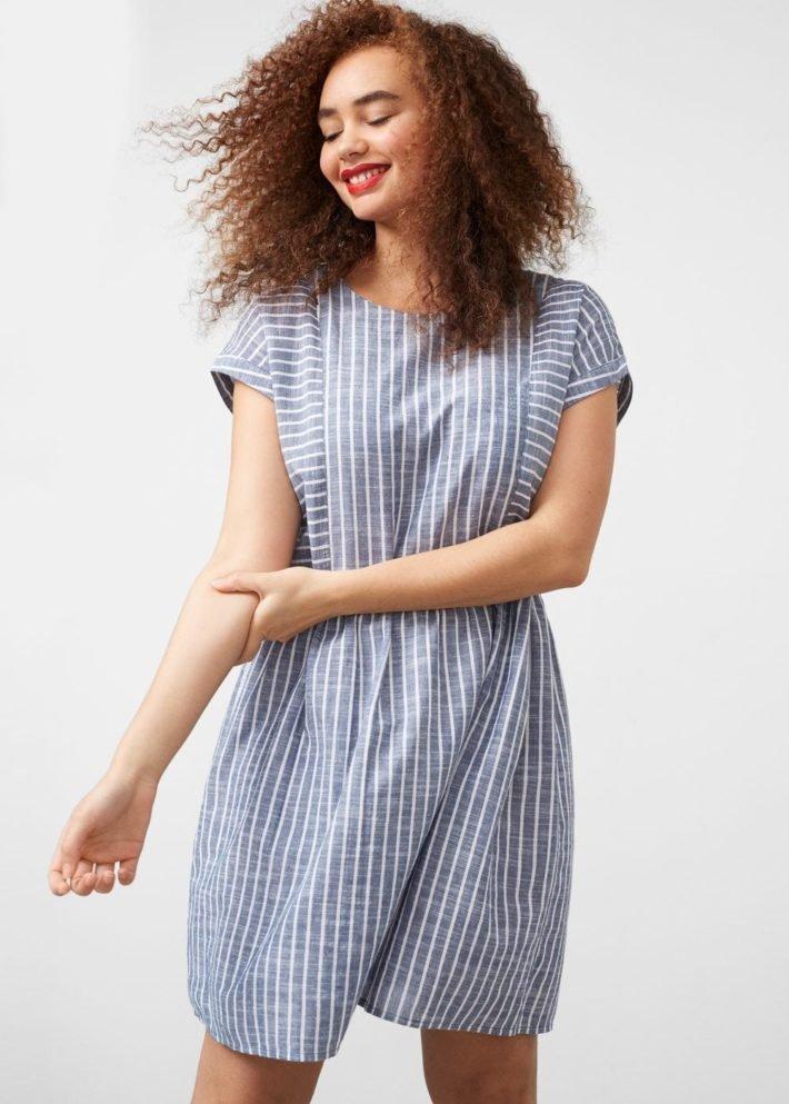 платье рубашка в полоску на каждый день