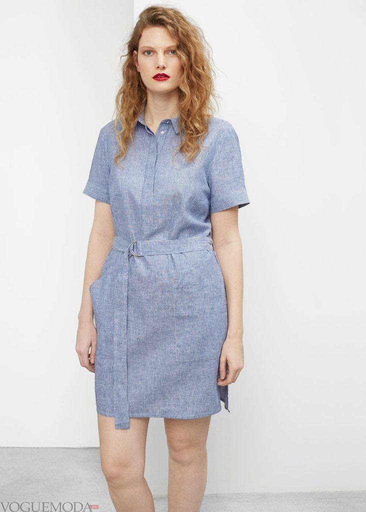платье рубашка в полосочку на каждый день