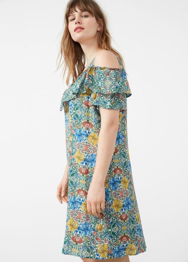 платье на каждый день открытые плечи