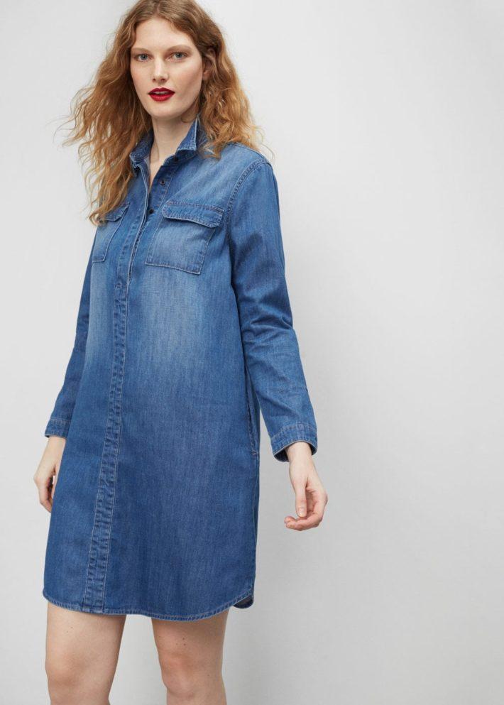 каждодневное платье джинсовое