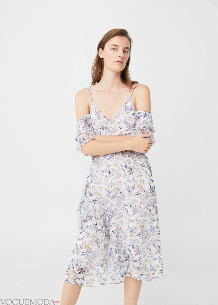 каждодневное платье 2018 цветочное