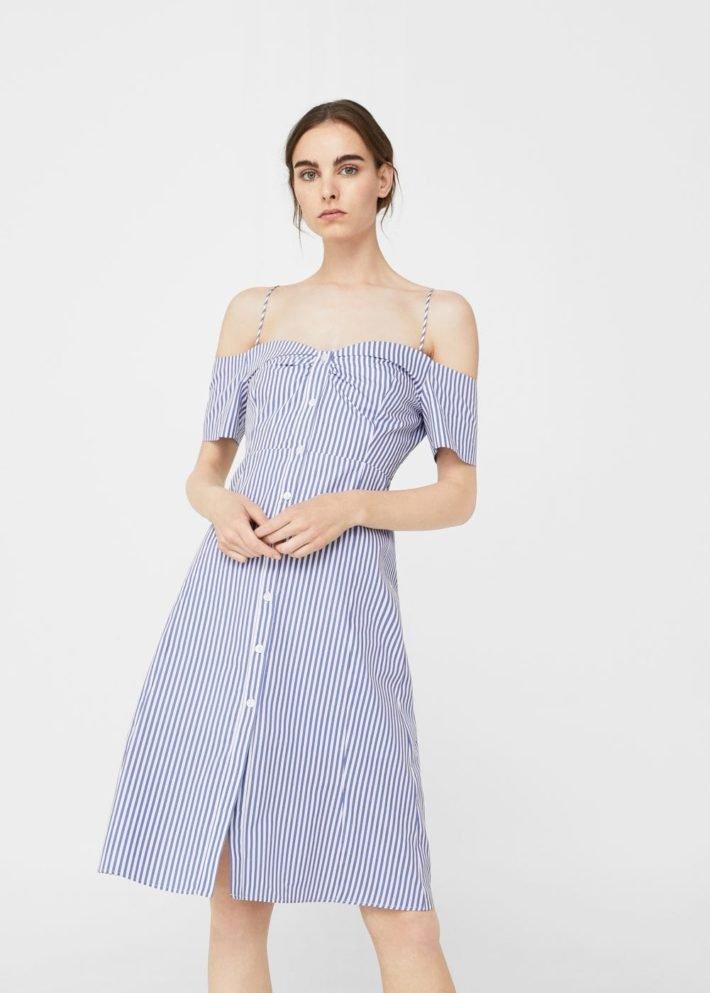 платье на каждый день в полоску