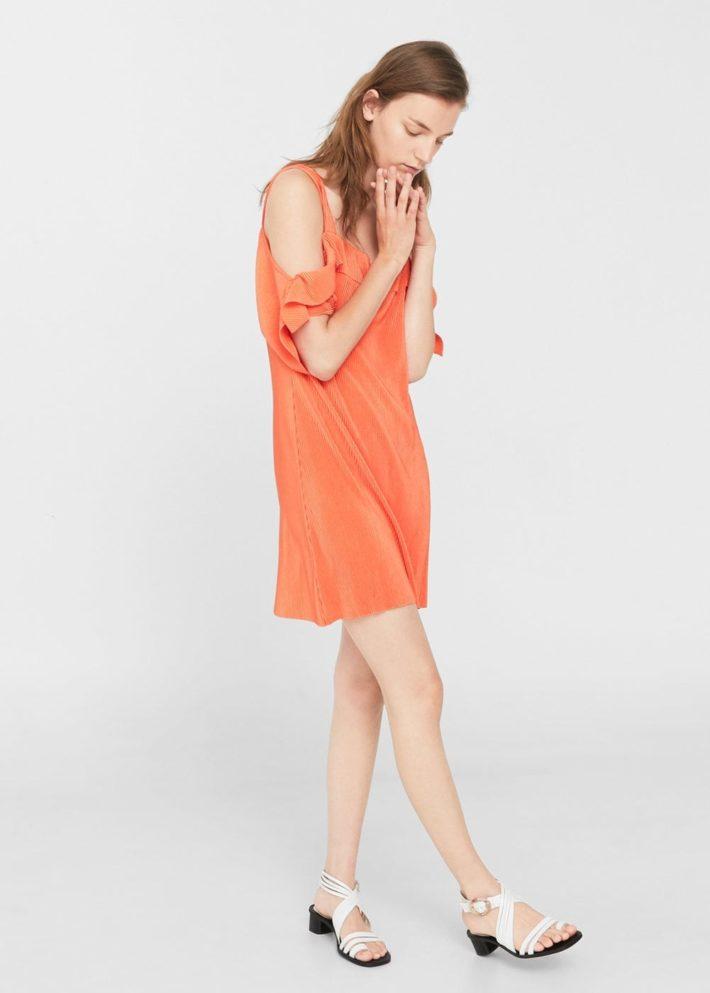 модные платья на каждый день: оранжевое
