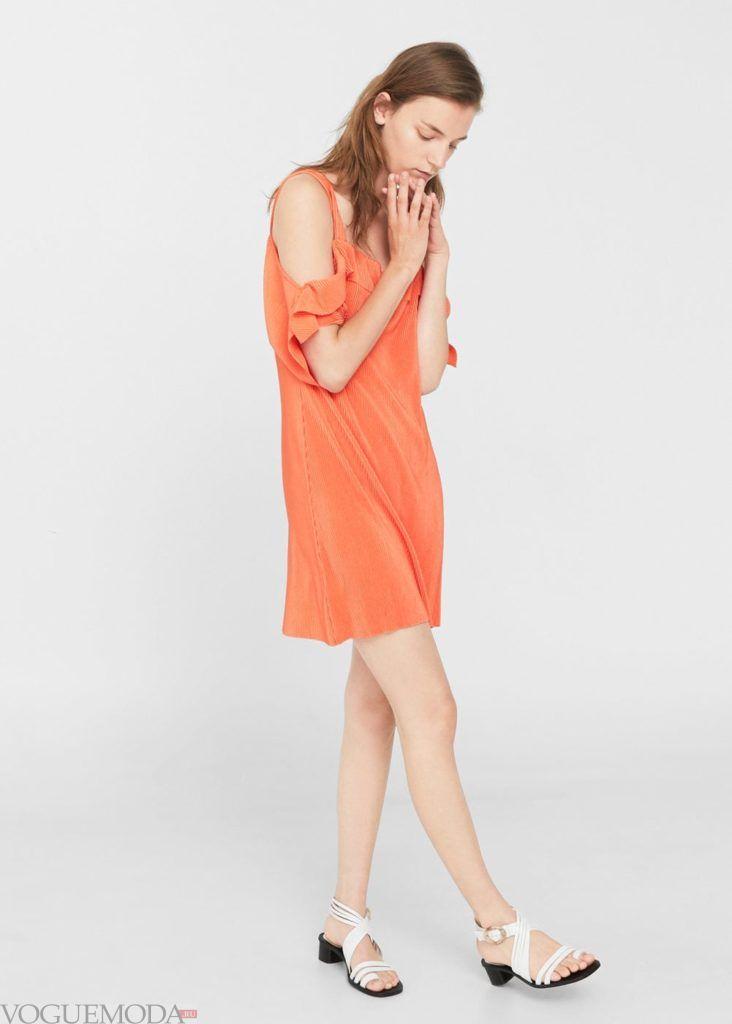 каждодневное платье оранжевое