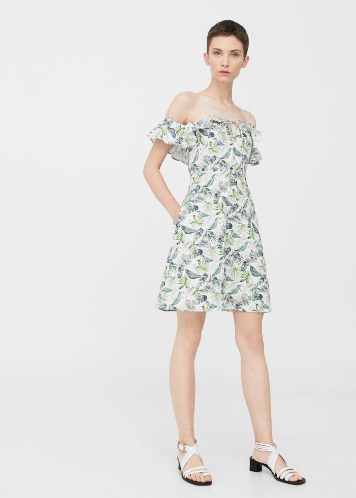 модные платья на каждый день: с открытыми плечами