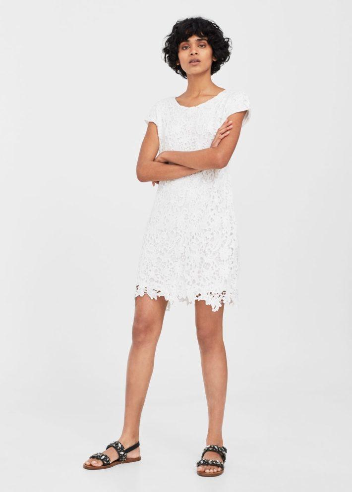 белое кружевное платье на каждый день