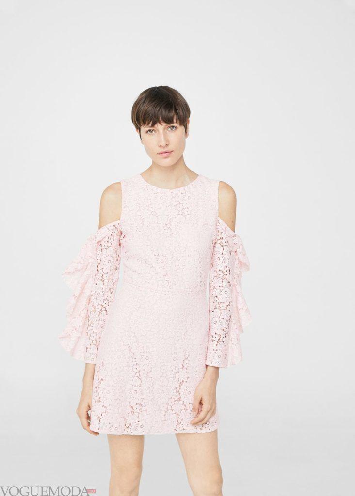 каждодневное платье розовое