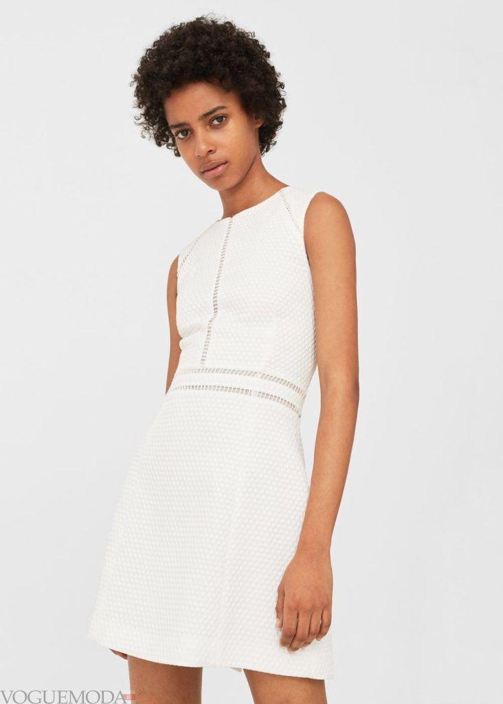 белое платье с узором на каждый день
