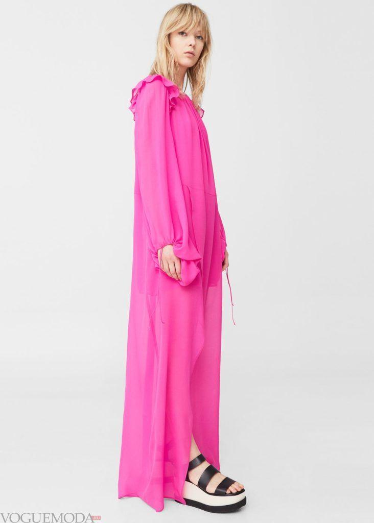 платье розовое 2019 2020