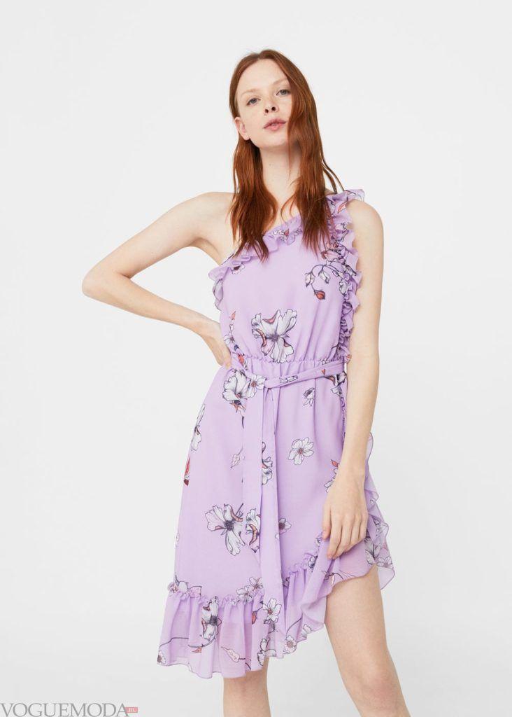 фиолетовое платье 2019 2020