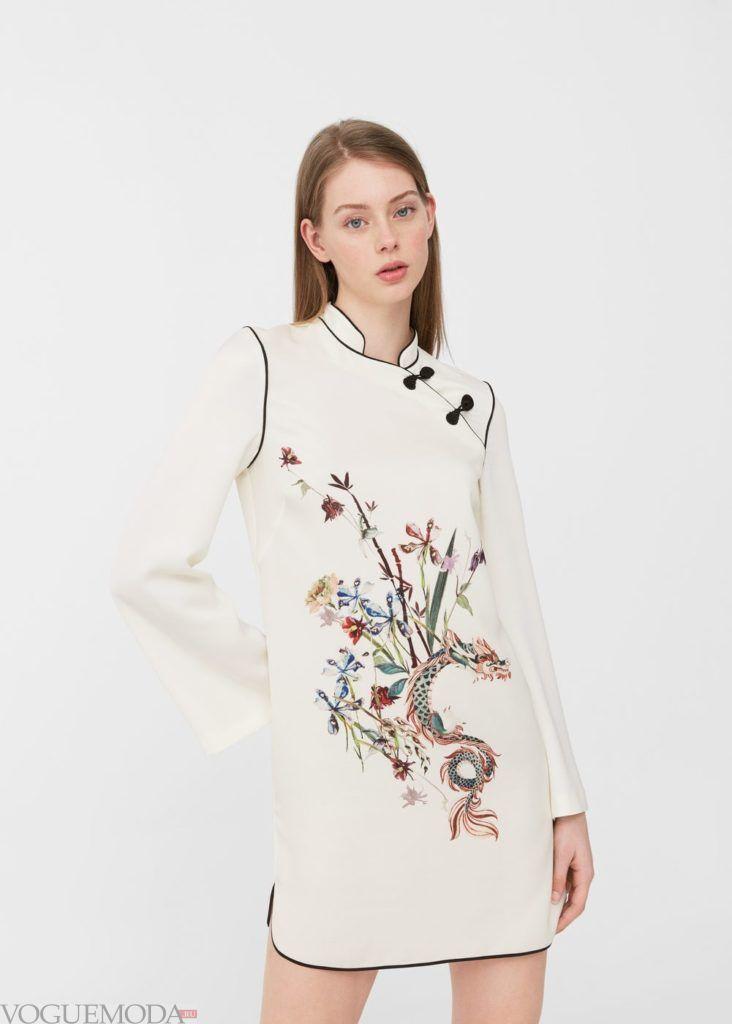 модное платье кимоно 2019 2020