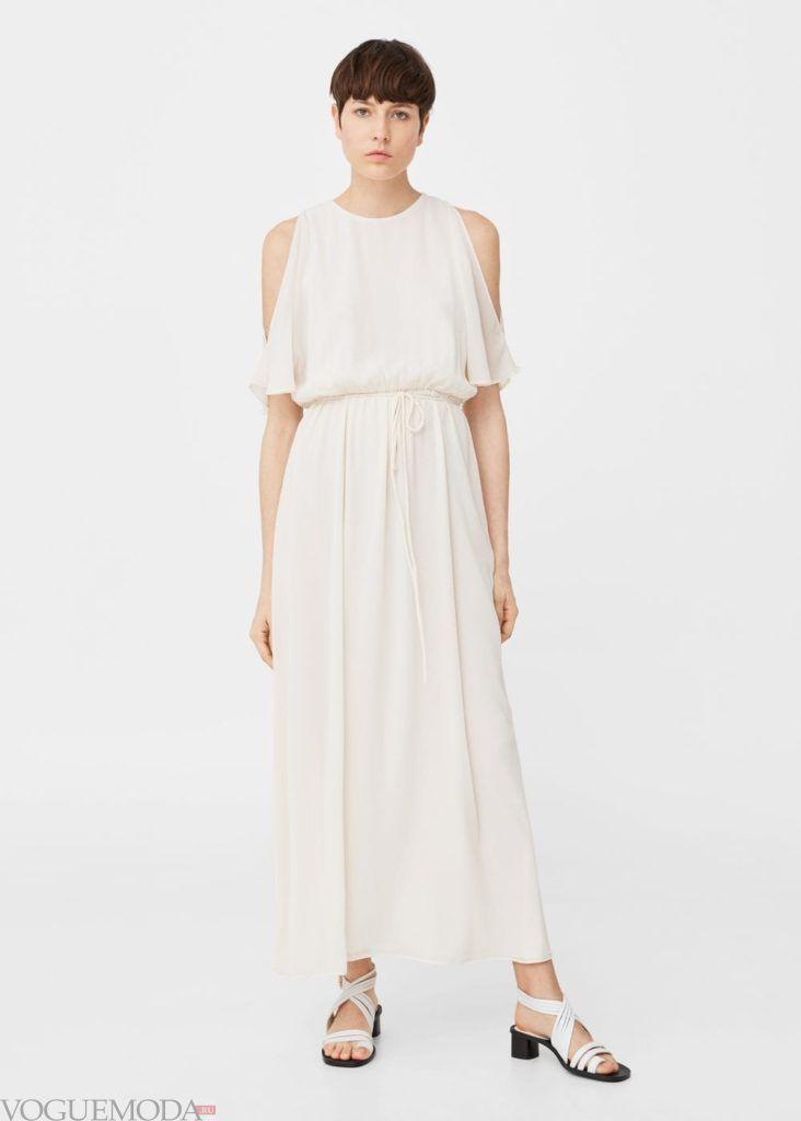 длинное белое платье 2019 2020