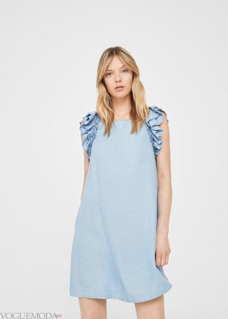 голубое платье 2019 2020