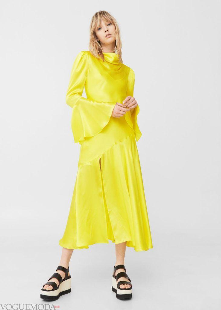 лимонное платье 2019 2020