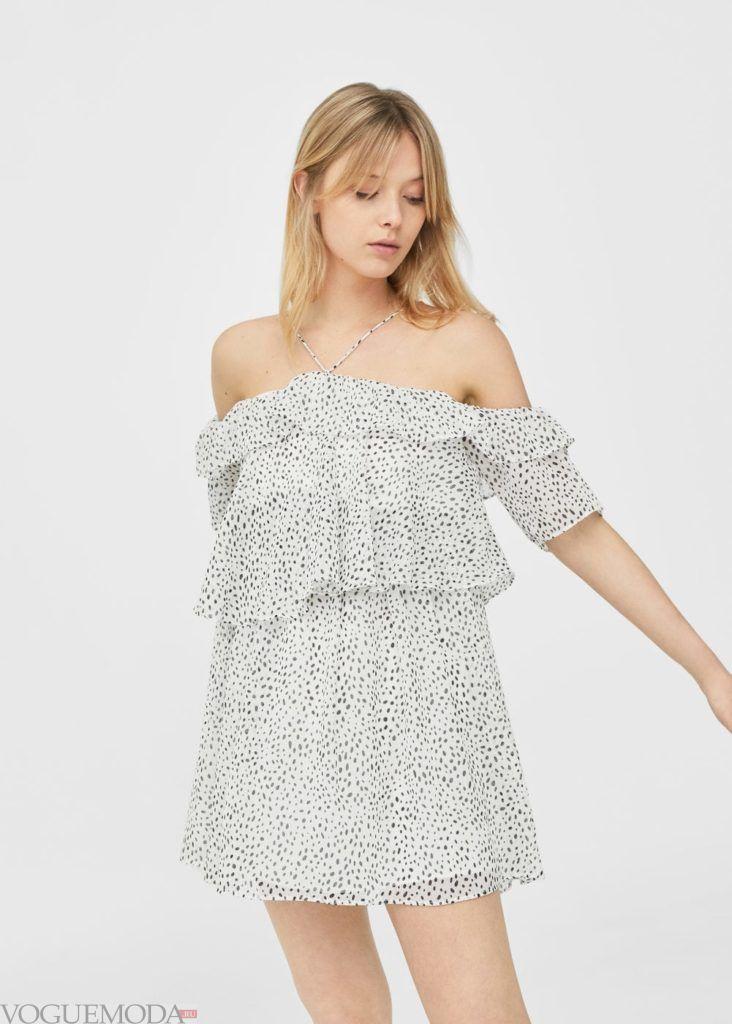 платье 2019 2020 в точечку