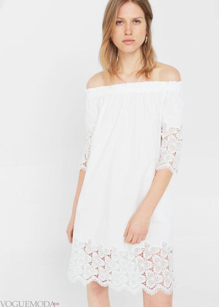 платье 2020 белое кружево