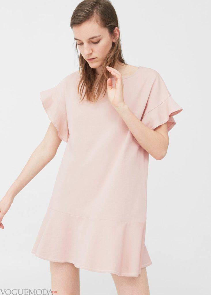 платье 2019 2020 пудра