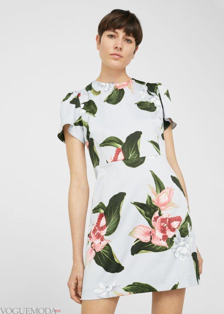 стильное платье 2019 2020 флора
